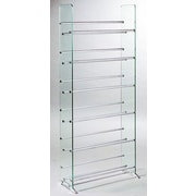 Symple Stuff Deco Storage Multimedia Storage Rack; Clear