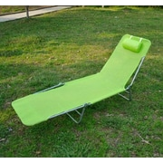 Symple Stuff Outsunny Chaise Lounge; Green