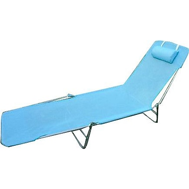 Symple Stuff Outsunny Chaise Lounge; Blue
