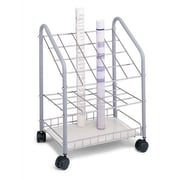 Symple Stuff Wire Roll File Filing Cart