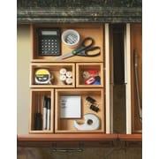 Symple Stuff 5 Piece Bamboo Drawer Organizer Box Set