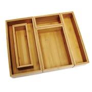 Symple Stuff Bamboo 5 Piece Organization Box Set