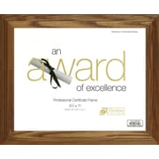 Symple Stuff Document and Award Picture Frame; Honey