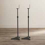 Symple Stuff Adjustable Height Speaker Stand (Set of 2)