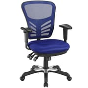 Symple Stuff Decker Mesh Desk Chair; Blue