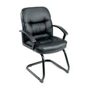 Symple Stuff Leather Guest Chair