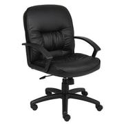 Symple Stuff Leather Desk Chair; Knee