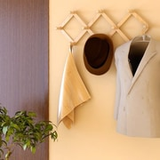 Symple Stuff Solid Wood Retractable Wall Mounted Coat Rack