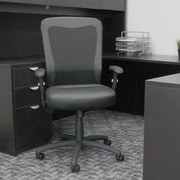 Symple Stuff Leather Executive Chair; Black