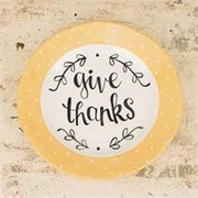 Glory Haus Give Thanks Decorative Plate