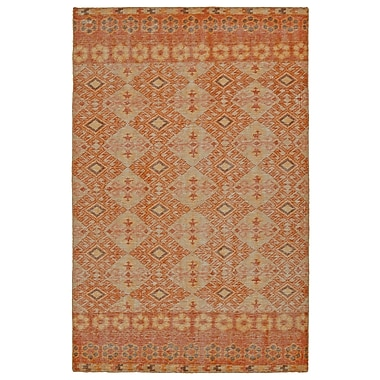 World Menagerie Aanya Hand-Knotted Orange Area Rug; 5'6'' x 8'6''