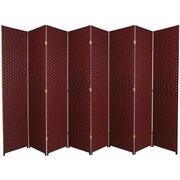World Menagerie 84'' x 158'' Wassim 8 Panel Room Divider; Red / Black