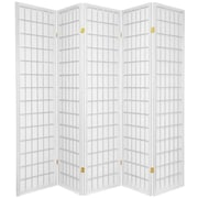 World Menagerie 70'' x 85'' Tejas Shoji 5 Panel Room Divider; White