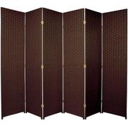 World Menagerie Bhatia 70.75'' x 105'' 6 Panel Room Divider; Dark Mocha