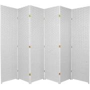 World Menagerie Bhatia 70.75'' x 105'' 6 Panel Room Divider; White