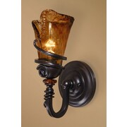 World Menagerie Soukaina 1-Light Wall Sconce in Oil Rubbed Bronze