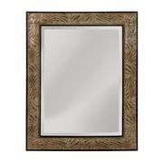 World Menagerie Leaf Patterned Frame Beveled Mirror; 51'' H x 41'' W x 2'' D
