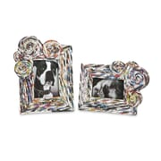 World Menagerie Recycled Magazine Photo Picture Frames (Set of 2)