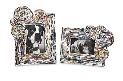 Bloomsbury Market Joanne Recycled Magazine Photo Picture Frames (Set of 2)