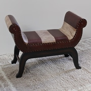 Bloomsbury Market Miuccia Traditional Wood/Faux Leather Bedroom Bench