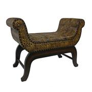 Bloomsbury Market Miuccia Wood/Faux Leather Bedroom Bench