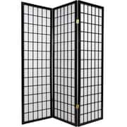 World Menagerie Triana 70'' x 51'' Gia 3 Panel Room Divider; Black