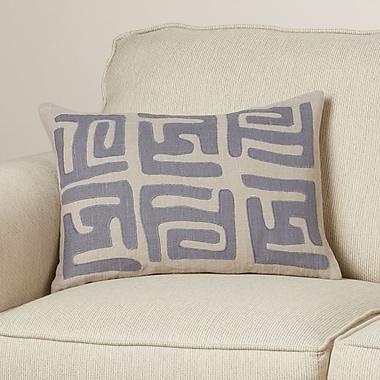 Bloomsbury Market Alona Graphic Print Down Lumbar Pillow; Charcoal/Light Gray