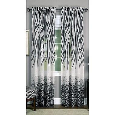 Bloomsbury Market Eureka Traditional Animal Print Sheer Rod Pocket Single Curtain Panel