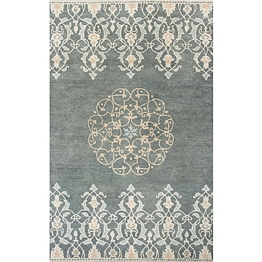 World Menagerie Nadir Hand-Tufted Charcoal Area Rug; 8'6'' x 11'6''