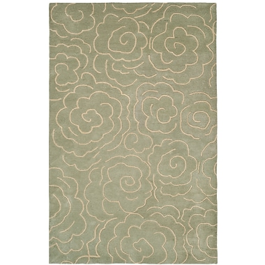 Bloomsbury Market Tatyana Soft Light Blue/Ivory Area Rug; 5' x 8'