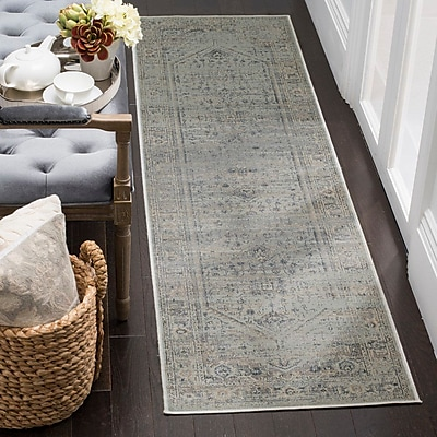 Bloomsbury Market Emily Traditional Light Blue Area Rug; Rectangle 8'10'' x 12'2''