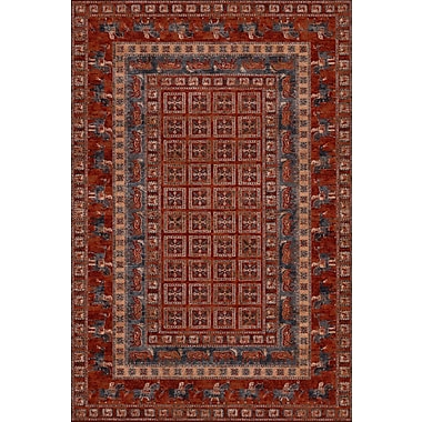 World Menagerie Faska Antique Red Area Rug; 5'3'' x 7'6''