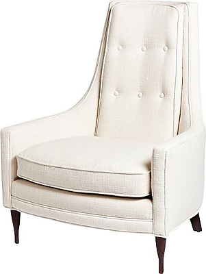 World Menagerie Antonio Occasional Arm Chair; Ivory WYF078280348887