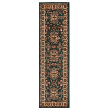 Bloomsbury Market Quoizel Gray/Gold Area Rug; Runner 2'2'' x 7'6''