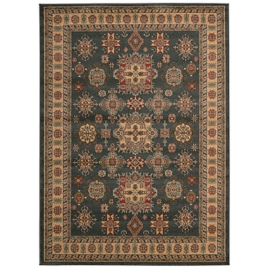 Bloomsbury Market Quoizel Gray/Gold Area Rug; 5'3'' x 7'4''