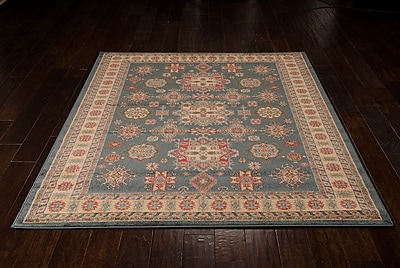 Bloomsbury Market Quoizel Gray/Gold Area Rug; 9'3'' x 12'9''