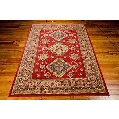 Bloomsbury Market Quoizel Red/Gold Area Rug; 5'3'' x 7'4''