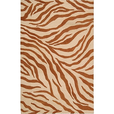 World Menagerie Goulmima Ivory/Rust Area Rug; 7'6'' x 9'6''