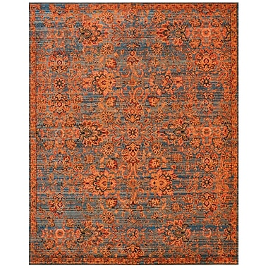 Bloomsbury Market Pilou Teal/Orange Area Rug; 9'9'' x 13'