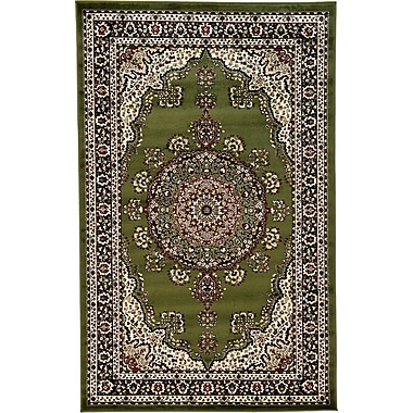 World Menagerie Essehoul Green Area Rug; 5' x 8'