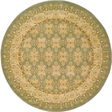 World Menagerie Fonciere Light Green Area Rug; Round 6'