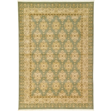 World Menagerie Fonciere Light Green Area Rug; 9' x 12'