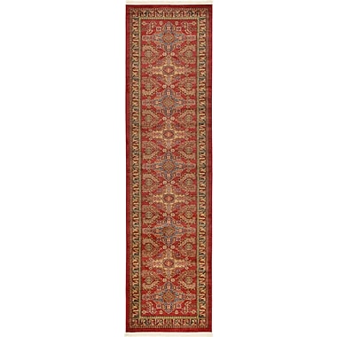 World Menagerie Valley Red Area Rug; Runner 2'7'' x 10'