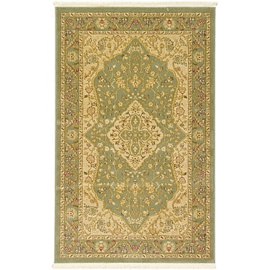 World Menagerie Fonciere Light Green Area Rug; Runner 2'7'' x 10'
