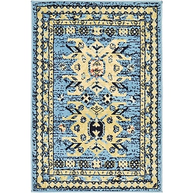 World Menagerie Valley Light Blue Area Rug; 7' x 10'