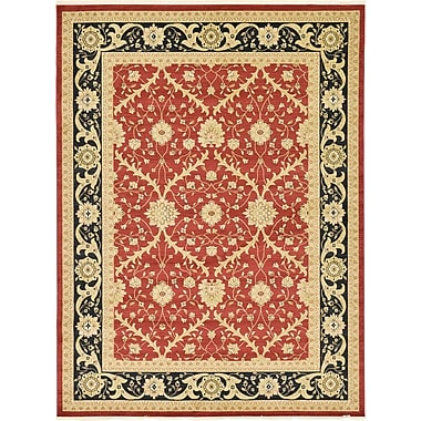 World Menagerie Fonciere Red Area Rug; 10'6'' x 16'5''