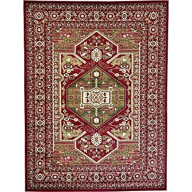 World Menagerie Valley Red Area Rug; 5' x 8'