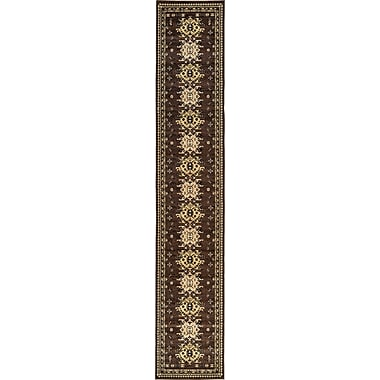 World Menagerie Valley Brown Area Rug; 6' x 9'