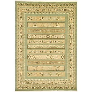 World Menagerie Foret Noire Light Green Area Rug; 3'3'' x 5'3''