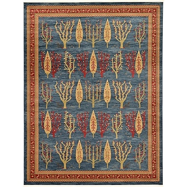 World Menagerie Foret Noire Blue Area Rug; 9' x 12'